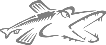 Logo of the Pike scripting language.  A stylised fish.